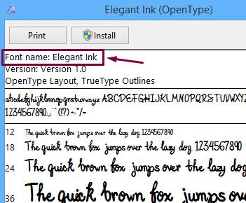 Elegant-font-name