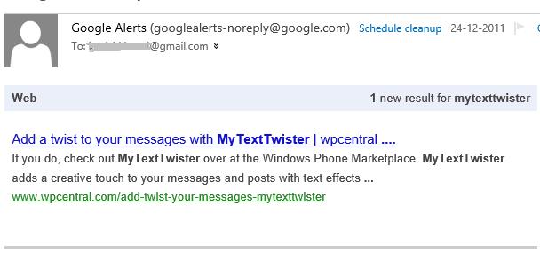 GoogleAlertMyTextTwisterEmail1