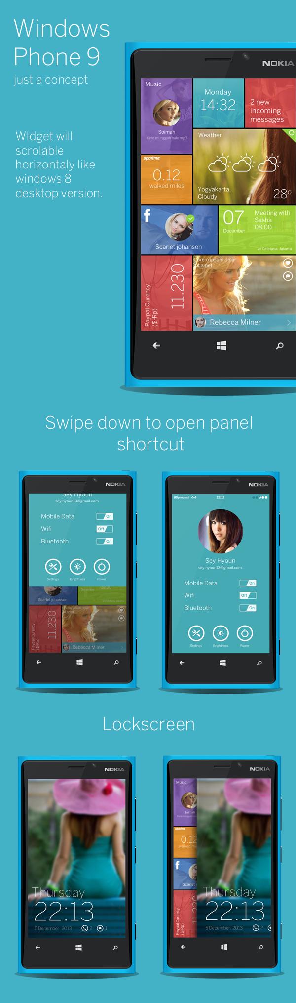 Windows Phone 9 UI Concept