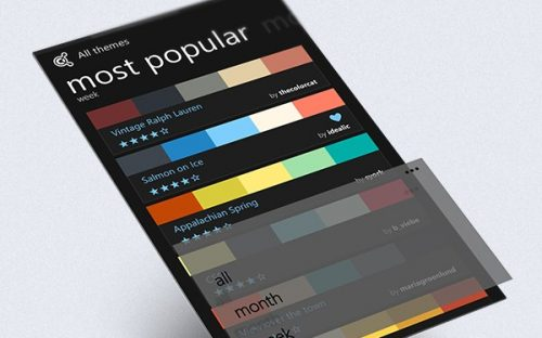 Adobe Kuler for Windows Phone – App concept