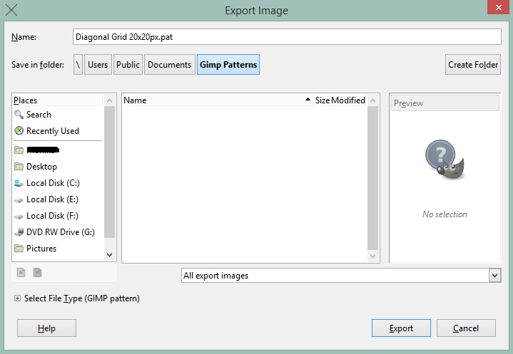 ExportPattern