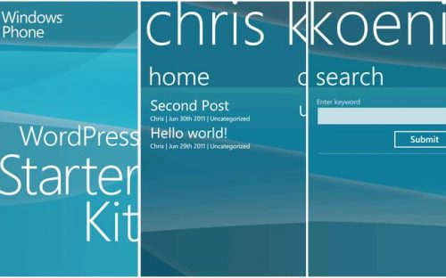 Windows Phone App Starter Kits