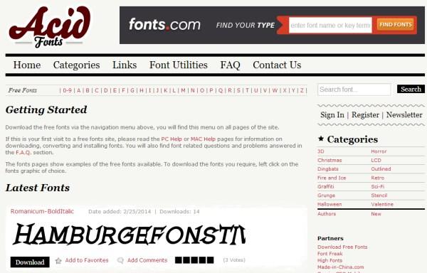 acid fonts free
