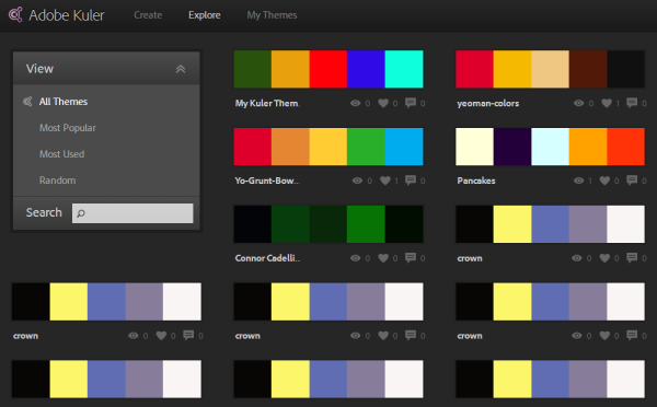 Adobe Kuler Color Scheme Generator