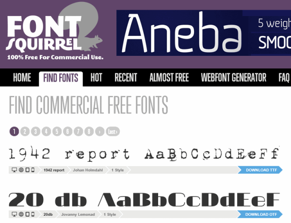 font squirrel free fonts