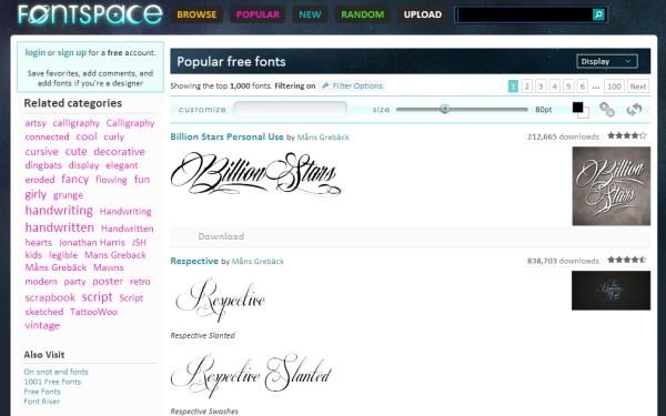 fontspace free fonts
