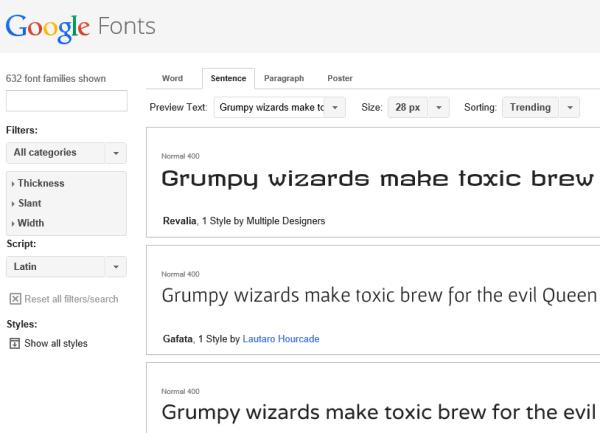 google font free fonts