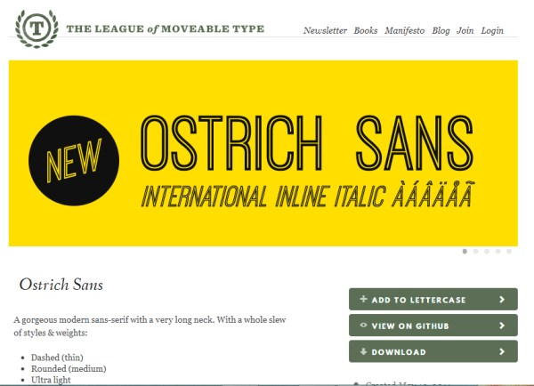 league of moveable type fonts