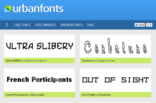 urbanfonts free fonts