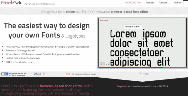 font creation tool fontark