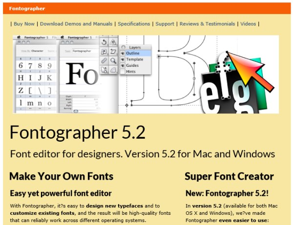 font creation tool fontographer