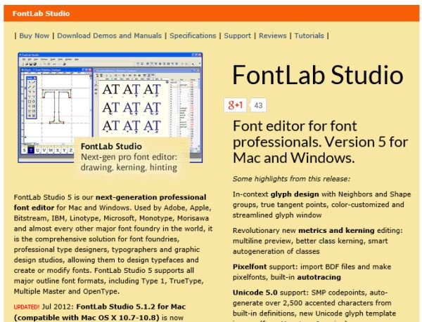 create your own font fontlab studio