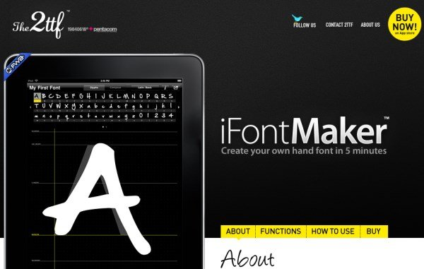 iFontmaker font creation tool