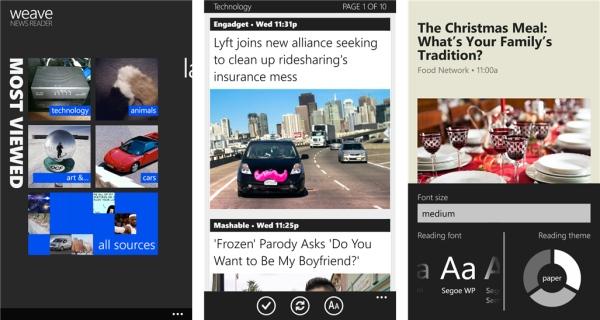 weave news reader app