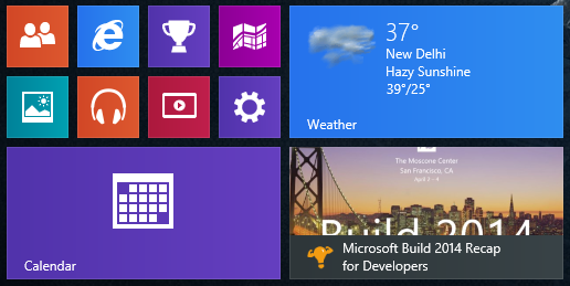 SuperDev Live tile on Windows 8