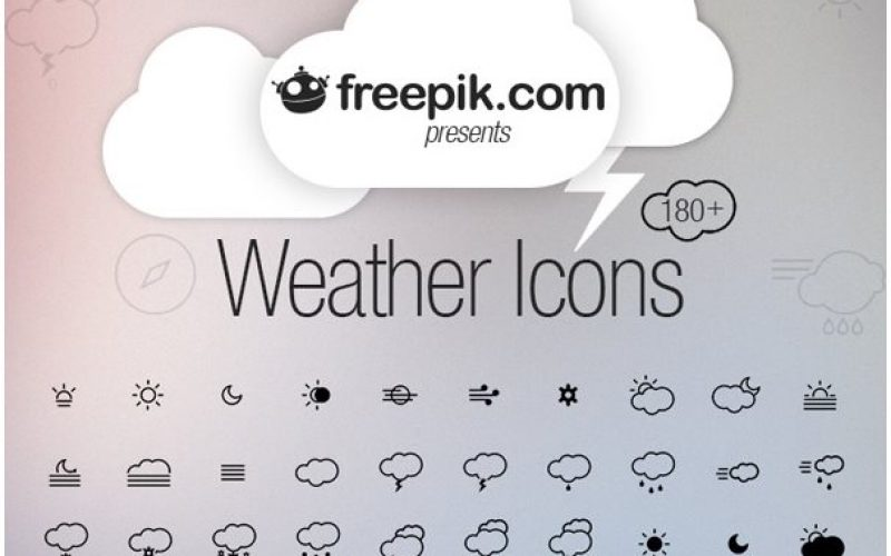 12+ Free Weather Icon Sets for your Apps & Websites