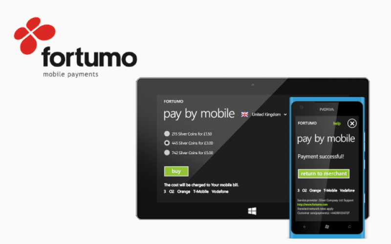 Mobile payments company Fortumo adds Unity Support for Windows Phone & Windows 8