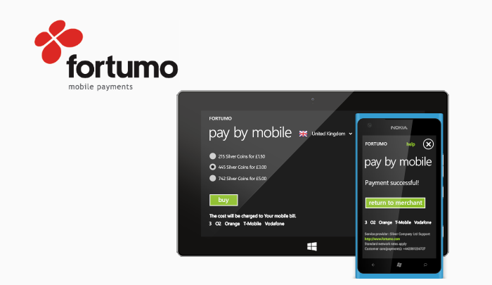 Mobile Payments compnay Fortumo Unity Windows Phone