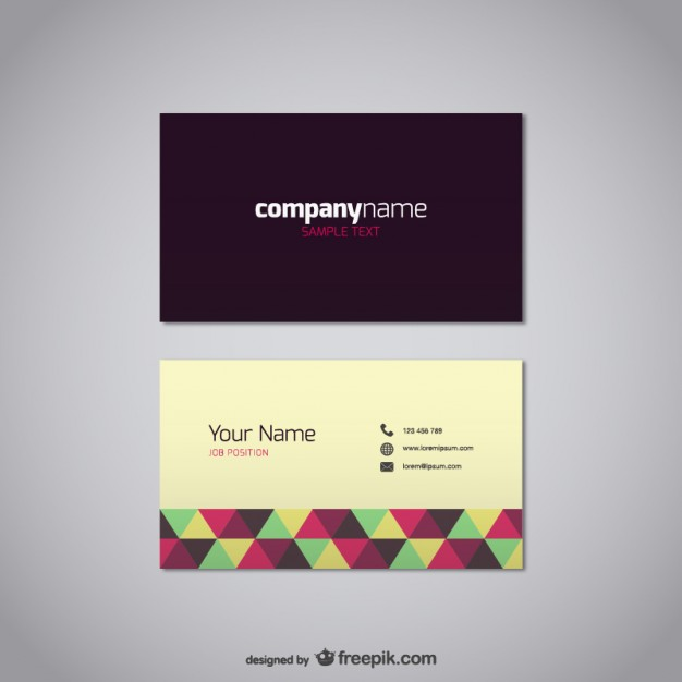 20 free business card design templates from freepik for Business card eps template