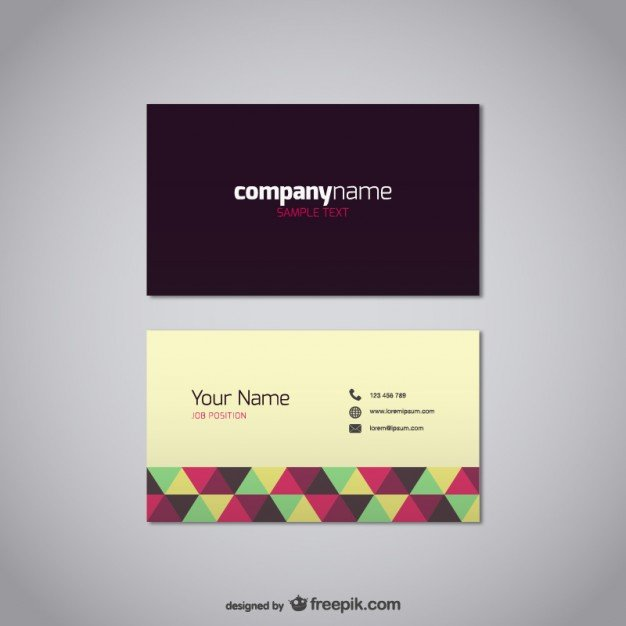 Free Business Card Design Templates From Freepik Super Dev Resources