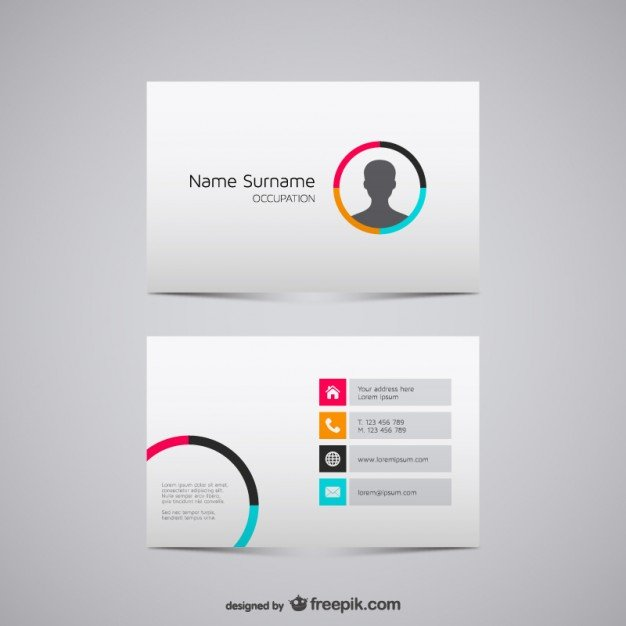 20 free business card design templates from freepik super dev free business card design templates accmission Images