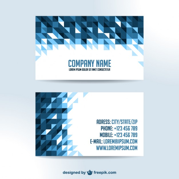 business-cards-triangle-design