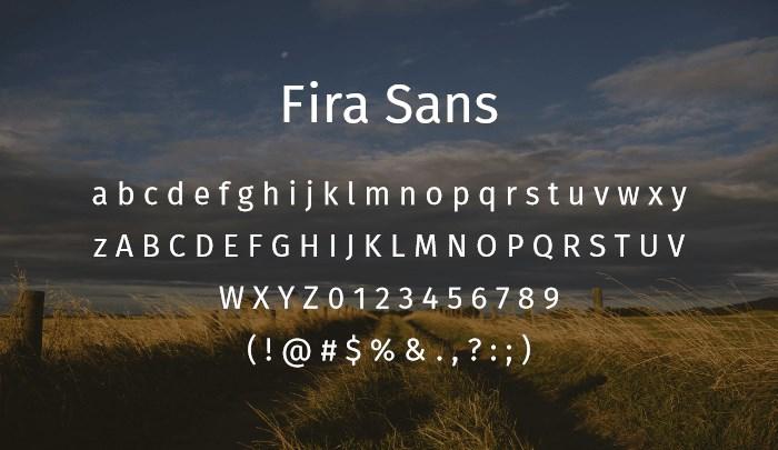 fira sans best free sans serif