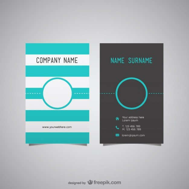 free business card layout vector