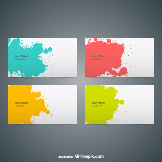 20 free business card design templates from freepik super dev free business cards color splash design colourmoves
