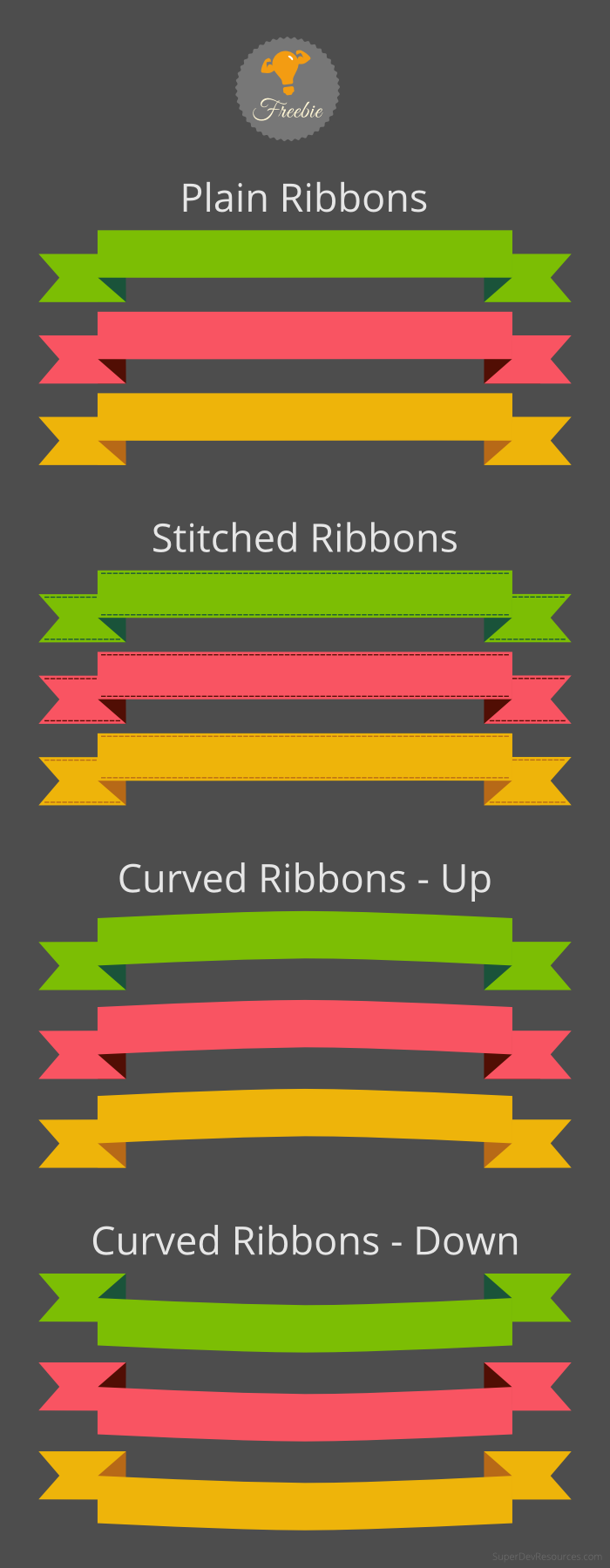free-ribbons-set
