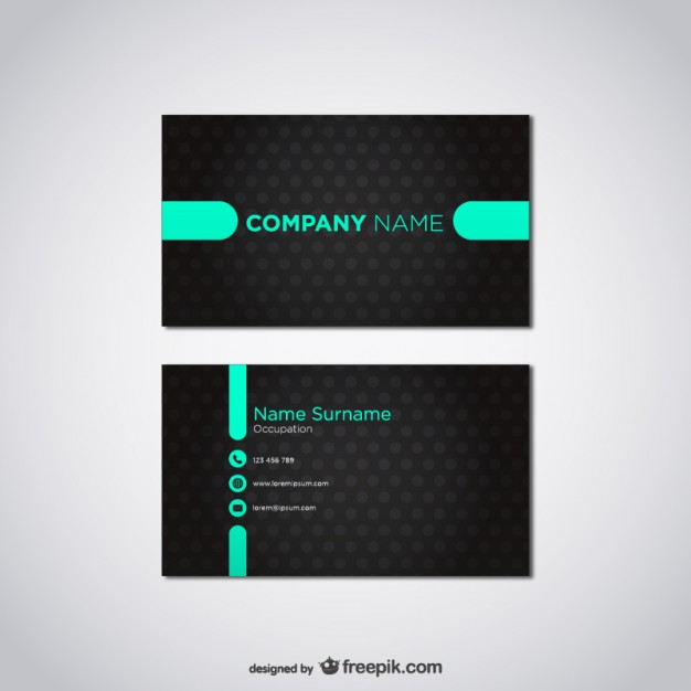 20 free business card design templates from freepik super dev free vector card template wajeb Choice Image