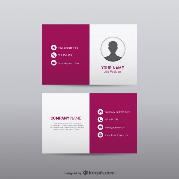 20 free business card design templates from freepik super dev free visual identity business card reheart Choice Image