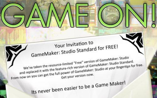 GameMaker Studio Standard License goes Free