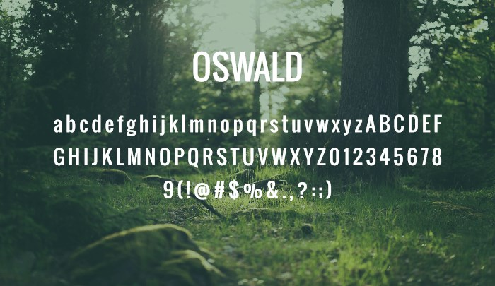 oswald best sans serif fonts