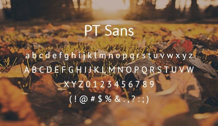 ptsans best free sans serif
