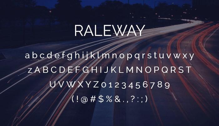 raleway best free sans serif fonts