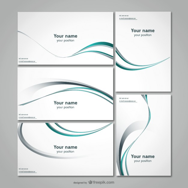 20 free business card design templates from freepik super dev simple line business card template fbccfo Choice Image