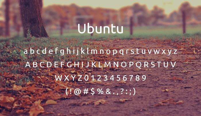 ubuntu best free sans serif fonts