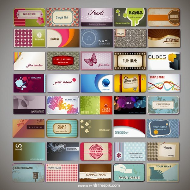 20 free business card design templates from freepik super dev variety of business card design templates vector fbccfo Image collections