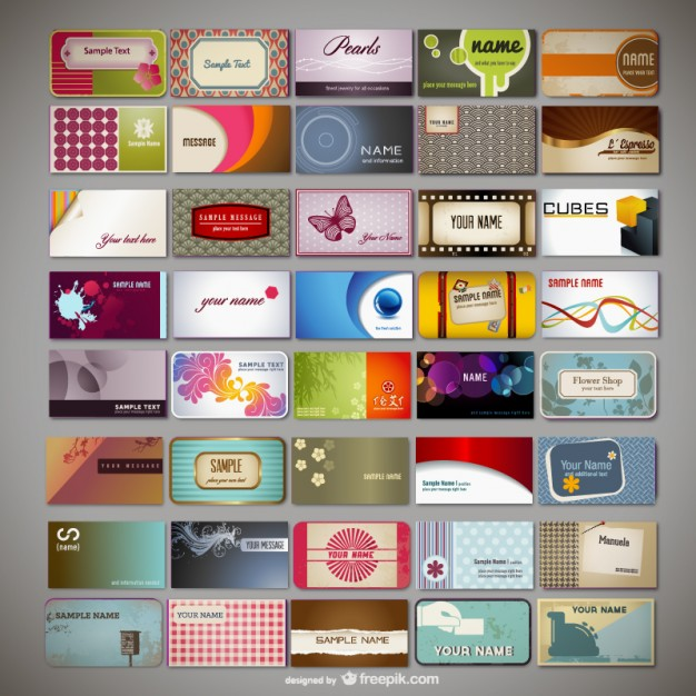 20 free business card design templates from freepik super dev variety of business card template fbccfo Images
