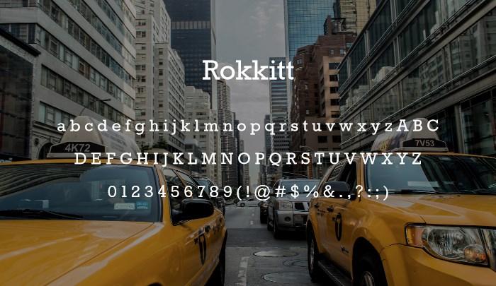 best-free-serif-fonts-2014-rokkitt