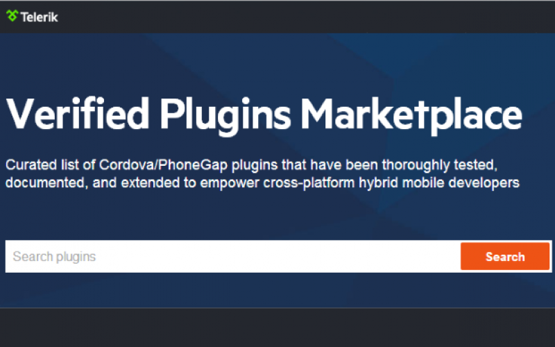 Cordova/PhoneGap Plugins Marketplace launched by Telerik