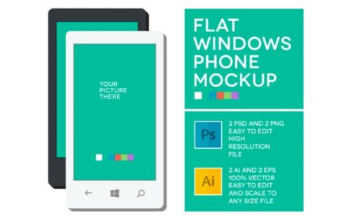 14 Windows Phone mockups – Free and Paid PSDs