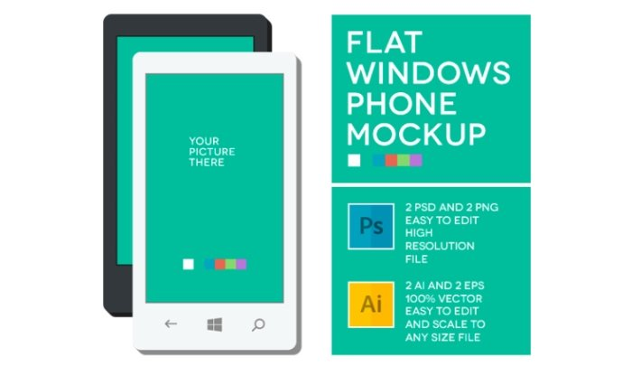 windows phone mockup psd
