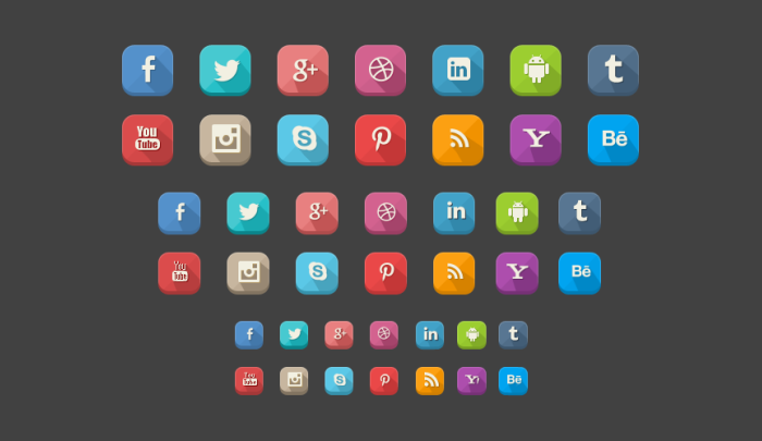 long-shadow-social-media-icons