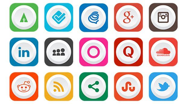 rounded-flat-free-social-media-icons