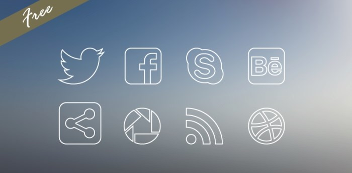 social_media-thin-icon-set-free