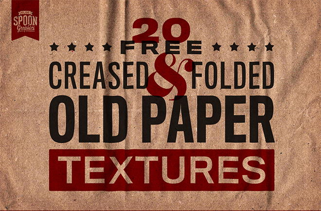 old creased free paper textures