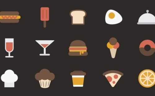 12 Free Food and Cooking Icon Sets for Apps and Websites