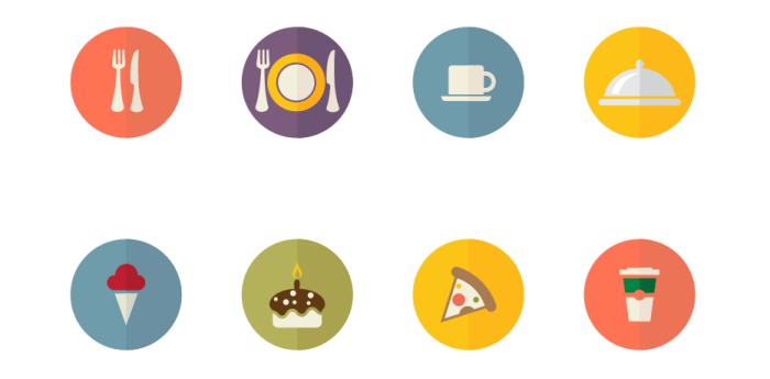 food-icons-vector